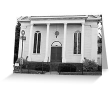 Old Church Facade - B&W  Greeting Card