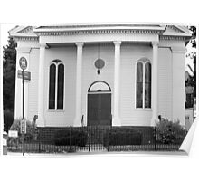 Old Church Facade - B&W  Poster