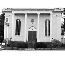 Old Church Facade - B&W  Photographic Print