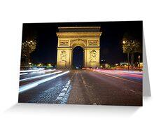 Arc de Triomphe at Night Greeting Card