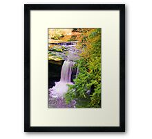 Painted Waterfall Framed Print
