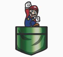 Mario Pipe Pocket One Piece - Long Sleeve