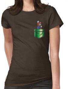 Mario Pipe Pocket Womens Fitted T-Shirt