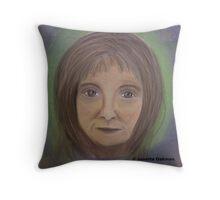Portrait of Lady - Soft Pastels Throw Pillow