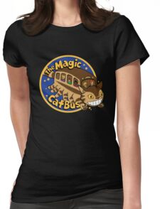 The Magic Catbus Womens Fitted T-Shirt