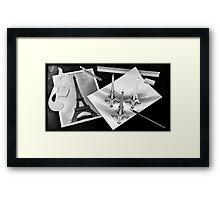 Eiffel tower drawing Framed Print