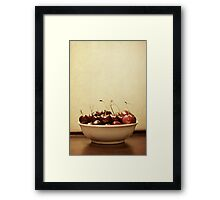 Bowl o' Cherries Framed Print