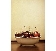 Bowl o' Cherries Photographic Print