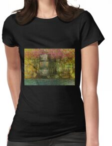 The Forest Landscape Meditation  Womens Fitted T-Shirt