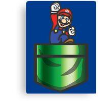 Mario Pipe Pocket Canvas Print
