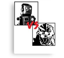 Robots Vs Monsters Canvas Print