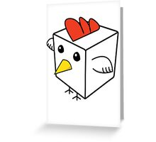 Cock Block Greeting Card