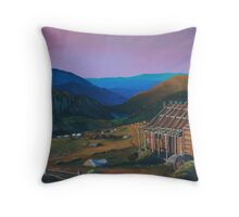 Country by Morning (oil) Throw Pillow