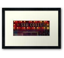 Sno Cones Framed Print