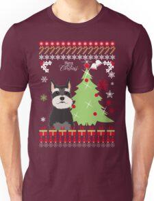 Schnauzer Ugly Christmas Sweater Unisex T-Shirt