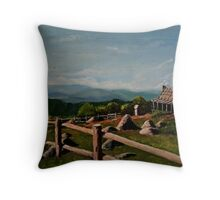 Country Escape (oil painting) Throw Pillow