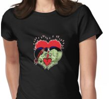 Psycho heart splat Womens Fitted T-Shirt