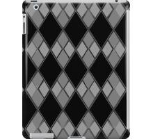 Gray & Black Checkers iPad Case/Skin
