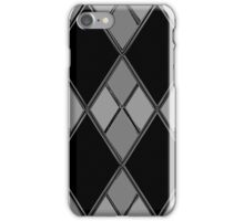 Black & Gray Checkers iPhone Case/Skin