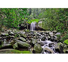 Falls and Rocks Photographic Print