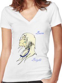 Burn Bright - Elf Women's Fitted V-Neck T-Shirt
