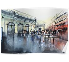 Place des Chartrons - Bordeaux - Watercolor Poster