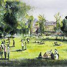Jardin public - Bordeaux - Watercolor by nicolasjolly