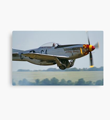 """P-51D Mustang """"Nooky Booky IV"""" - Duxford Flying Legends 2013 Canvas Print"""