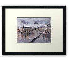 Place de la Bourse - Bordeaux - Watercolor Framed Print