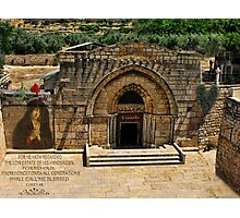 )̲̅ζø̸√̸£ *•.¸♥♥¸.•* TOMB OF THE VIRGIN MARY IN JERUSALEM*•.¸♥♥¸.•* )̲̅ζø̸√̸£ Photographic Print