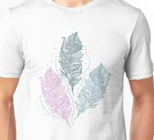 Patterned feathers Unisex T-Shirt