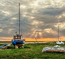 Sunset on the Dee Estuary by Tarrby