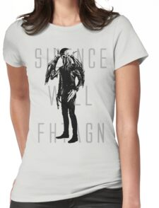 Silence Will Fhtagn Womens Fitted T-Shirt