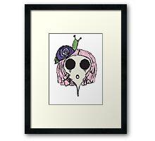 Snail Girl Framed Print