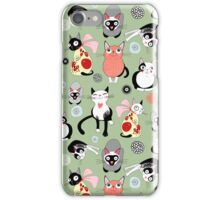 funny cats iPhone Case/Skin