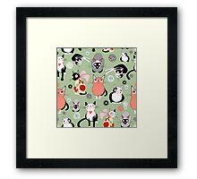 funny cats Framed Print