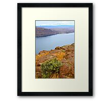 Sagebrush over the Columbia River, WA Framed Print