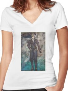 Steampunk America Women's Fitted V-Neck T-Shirt