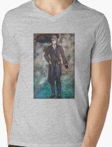 Steampunk America Mens V-Neck T-Shirt