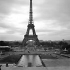 Eiffel tower black & white by STEPHEN SHONE