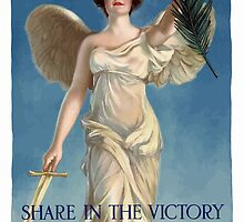 Share In The Victory -- Buy War Savings Stamps by warishellstore
