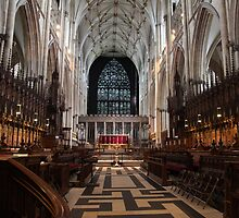 The Choir, York Minster. by John Dalkin