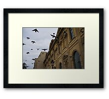Commotion in the Sky of Paris Framed Print