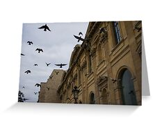 Commotion in the Sky of Paris Greeting Card