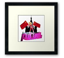 Russia's Drag Race Framed Print