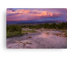 Gros Ventre River Sunset Canvas Print