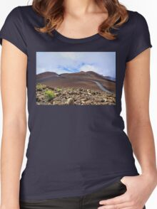Road To The Summit  Women's Fitted Scoop T-Shirt