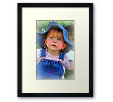 Looking for Grandma ! Framed Print