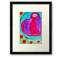 I Give You My Heart ♥ Framed Print
