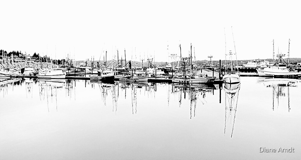 Waiting Fishing Boats...Newport, Oregon by trueblvr